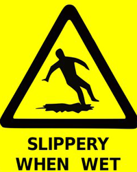 under the ohs microscope slip hazard due to a spill dws